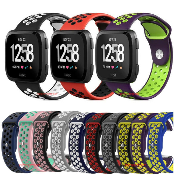 Sport Silicon Replacement Wristband Strap Breathable Watch Band For Fitbit Versa
