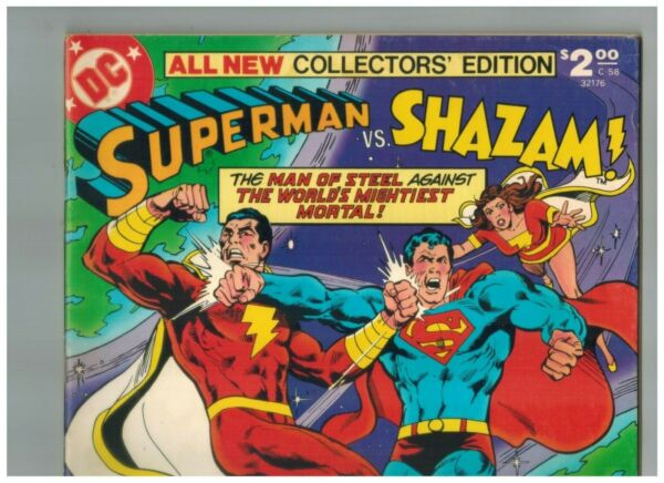 Superman vs SHAZAM Treasury C 58 2nd Black Adam vs Supergirl 1978 F VF