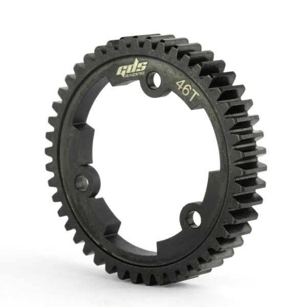 GDS Racing 46T Mod1 Steel Spur Gear 46 Tooth for RC Monster Truck Traxxas X MAXX