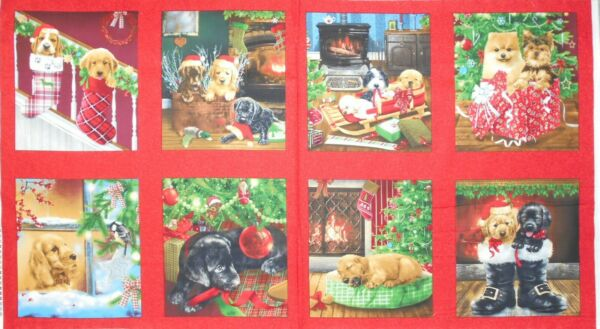 Fireside Pups Puppy Dogs Christmas Tree Fireplace 23x44