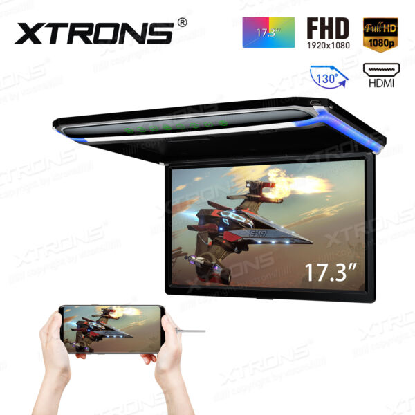 17.3quot; Car NON DVD player HDMI Roof mount in Car Flip Down Monitor Full HD 1080P $209.99