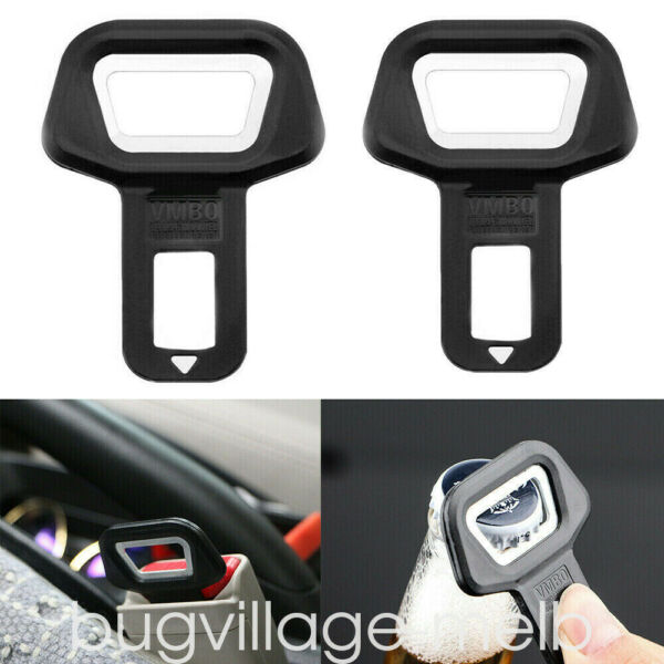 2x Vehicle Car Safety Seat Belt Buckles Clip Alarm Stopper Clamp Universal US