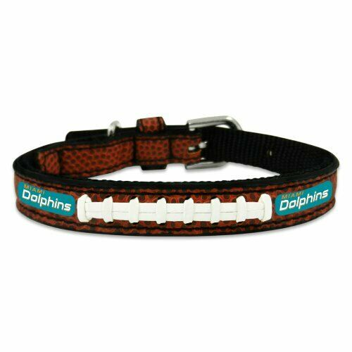 NFL Miami Dolphins Classic Leather Football Collar Toy