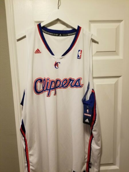 NWT Los Angeles Clippers 100% Authentic Adidas Blank Jersey Swingman 2XL2 $100