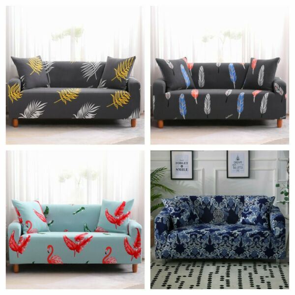 Floral 1234 Seater Slipcover Stretch Sofa Cover Couch Elastic Protector US $22.61
