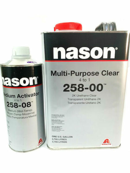 Nason Multi-Purpose Clear Coat 258-00 2K Urethane Kit with Activator Mid Temp