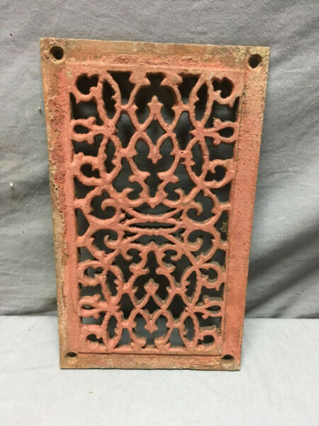 Antique Cast Iron Fireplace Grill Grate 6x11 Wall Ceiling Vent Old Vtg 433-19L