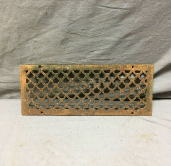 1 Antique Cast Iron Fireplace Grill Grates 5x13 Wall Ceiling Vent 443-19Lr