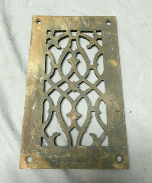 1 Antique Cast Iron Fireplace Grill Grates 5x9 Ceiling Vent Old Vtg 446-19Lr