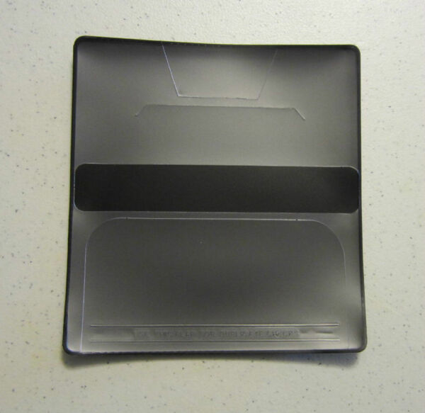 1 NEW BLACK VINYL CHECKBOOK COVER WITH DUPLICATE FLAP