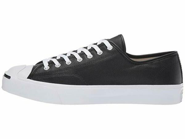 $90 Converse Jack Purcell Sneakers Black Leather Lo Men Sizes 10, 11, 12, 13, 15