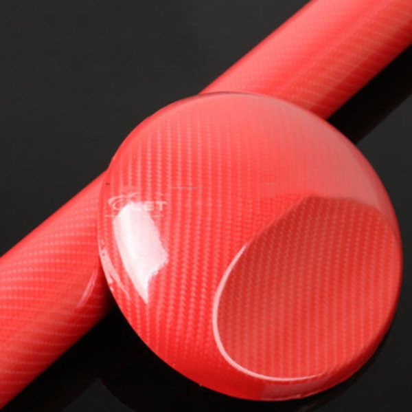 12quot;x60quot; 5D Ultra Shiny Gloss Glossy Red Carbon Fiber Vinyl Wrap Sticker Decal $10.87