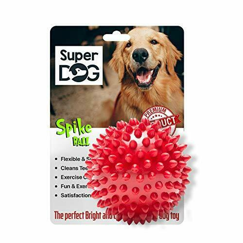 Super Dog Spiked Rubber Dog Ball Color May Vary $19.95