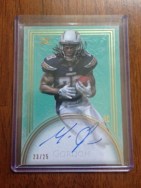 Melvin Gordon Rookie Auto card Autograph Signed 2015 Topps Definitive 25