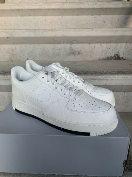 Nike Air Force 1 One 07 Low Sail Off White Black AO2409-100 Mens Size 11.5