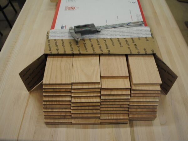 36 Oak thin boards lumber wood crafts 1 4quot; x 2 1 2quot; x 12 1 2quot; $38.95