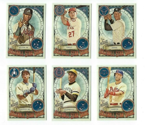 Baseball Star Signs Insert Complete Your Set 2019 Allen & Ginter You U Pick