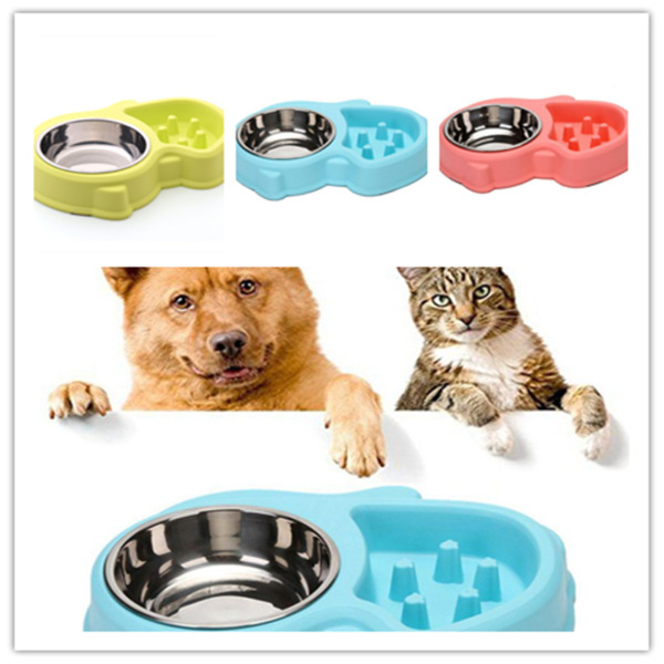 Pet Bowl Slow Feeder Cat and Dog Feeding and Watering Interactive Bloat Stop