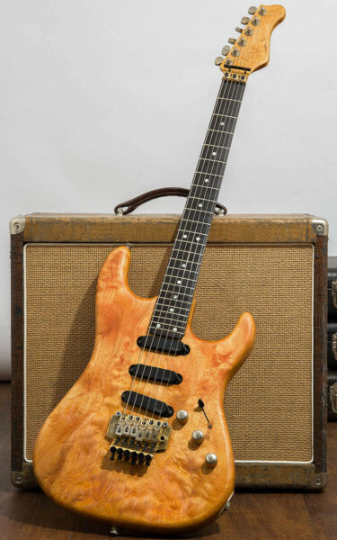 Valley Arts M Series ST Type Quilt Natural Electric Guitar Made in Japan L9547 $1769.00