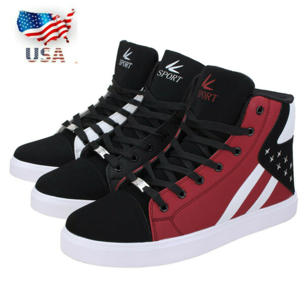 US Men's Casual High Top Sport Shoes Running Outdoor Hip Hop Dance Sneakers