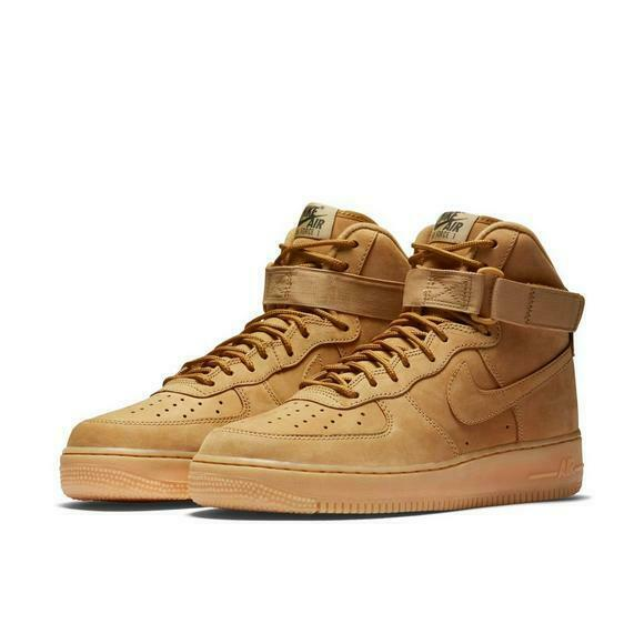 Nike Air Force One 1 High LV8 '07 806403-200 Flax Wheat Haystack Men's New Suede