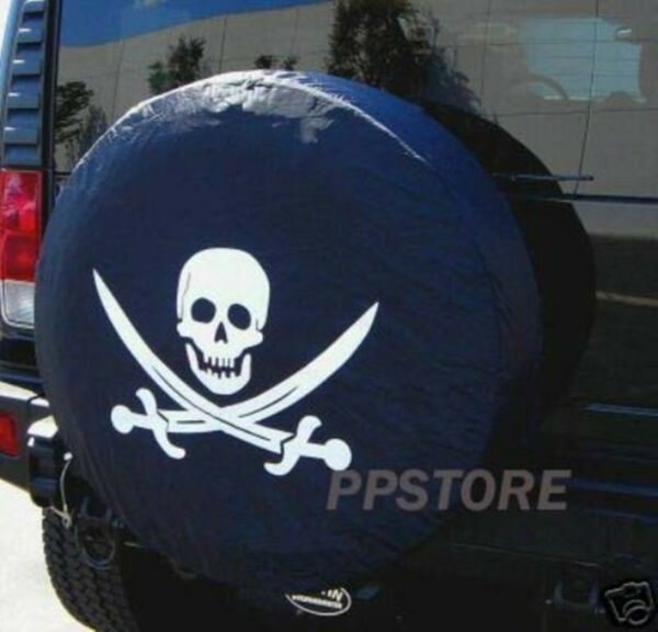 15quot; DIY trailer Spare tire tyre Wheel Cover Pirate SKULL PB15MSKCL brand new $9.98