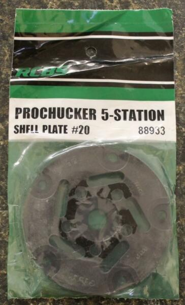 RCBS Pro Chucker 5 Station Shell Holder Plate #20 88933 Auto Index Press NEW!!