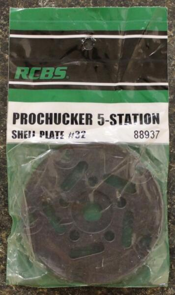 RCBS Pro Chucker 5 Station Shell Holder Plate #32 88937 Auto Index Press NEW!!