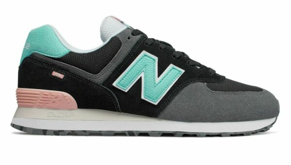New Balance Men's 574 Marbled Street Sport Sneakers Shoes Black/Grey ML574UJC