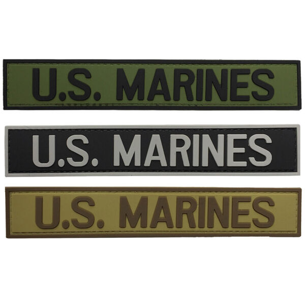G-FORCE U.S. Marines Hook & Loop Airsoft Military Tactical PVC Morale Patch