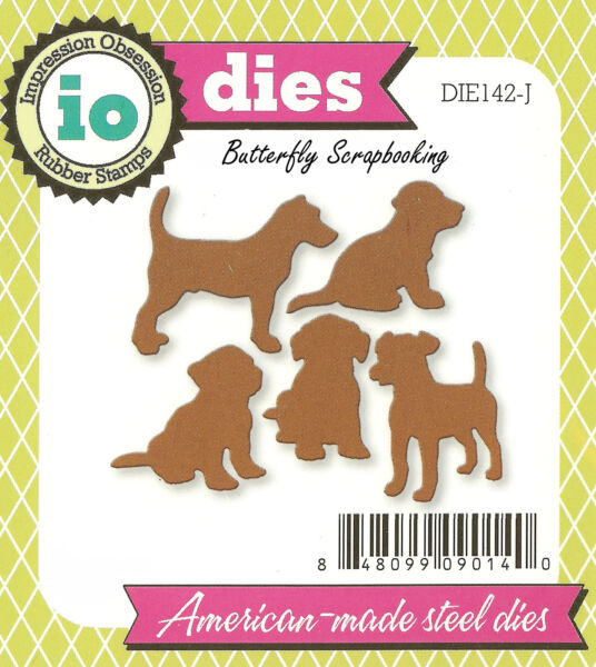 Puppy Dog Dogs Set Die Cutting Dies by Impression Obsession DIE142 J New $12.25