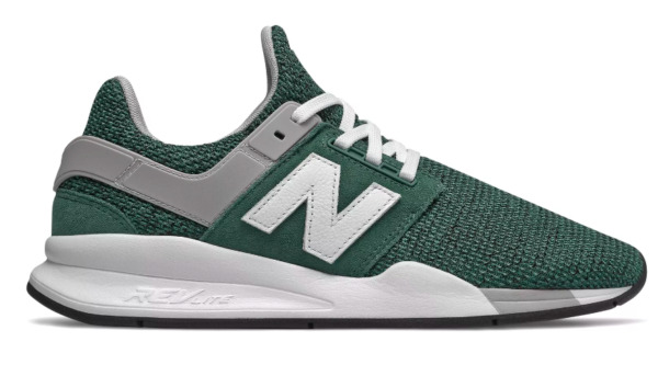New Balance Men's MS247FI Casual Sneakers, Green/White