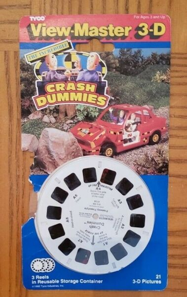 The Incredible Crash Test Dummies view-master Reels Pack opened