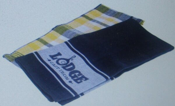 Lodge Plaid & Lodge Cast Iron Logo Kitchen Towel 2 Piece Set 18 in x 28 in New