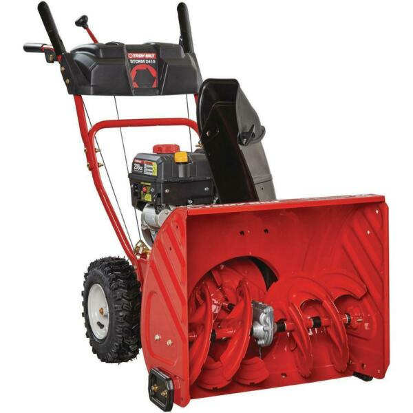 24 In. 208 Cc Two-Stage Gas Snow Blower With Electric Start Self Propelled NEW!