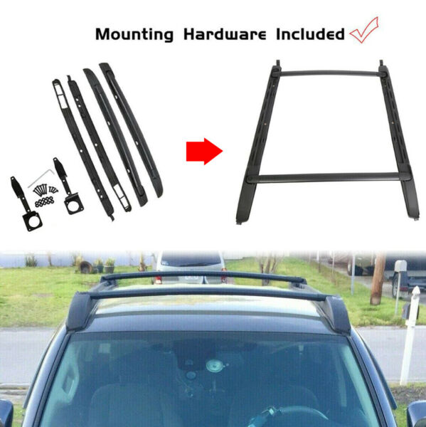 For 05 20 Toyota Tacoma Double Cab Luggage Carrier Roof Rack Crossbar Side Rails $115.00