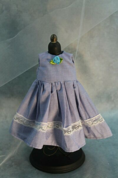 Blue and White Checked Doll Dress for Dianna Effner Dolls and Other 13quot; Dolls