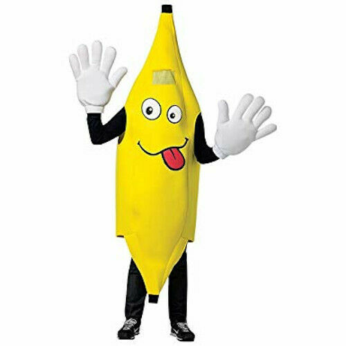Rasta Imposta Adult Waver Mascot Cartoon Costume - Banana w Yellow Hands