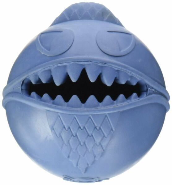 Jolly Pets Monster Ball 2.5 inch Blue  Treat Hiding Rubber Toy for Small Dogs $8.86
