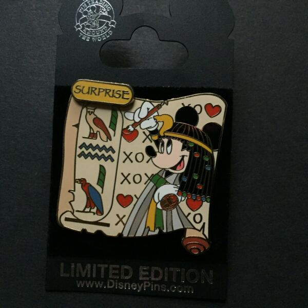 WDW Minnie Surprise Pin Collection 2006 Ancient Egypt Cartouche Disney Pin 46944