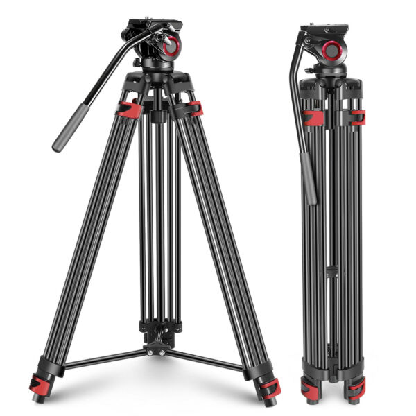 Neewer 77 inches Aluminum Alloy Video Tripod with 360 Degree Fluid Drag Head