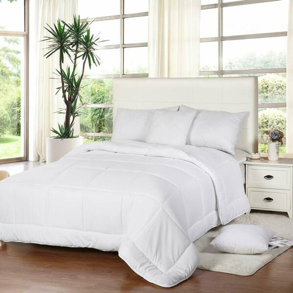 All Season Down Comforter Quilted Duvet Insert Box Style 250 GSM Utopia Bedding $22.99