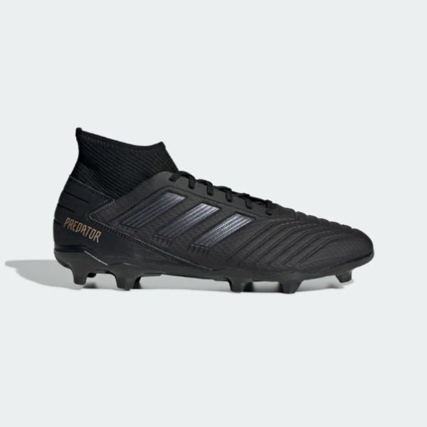 Adidas Men's Predator 19.3 Firm Ground FG Soccer Cleats (Black/Gold) F35594*