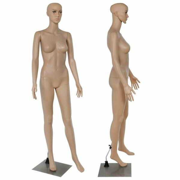 Adjustable Full Body Female Mannequin Realistic Shop Display Head Turns W Base