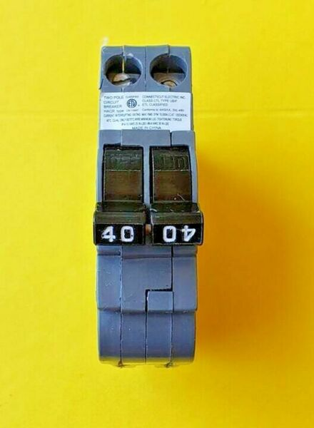 Federal Pacific Electric 40A 2P Circuit Breaker 40 Amp 2 Pole Stab Lok $20.00