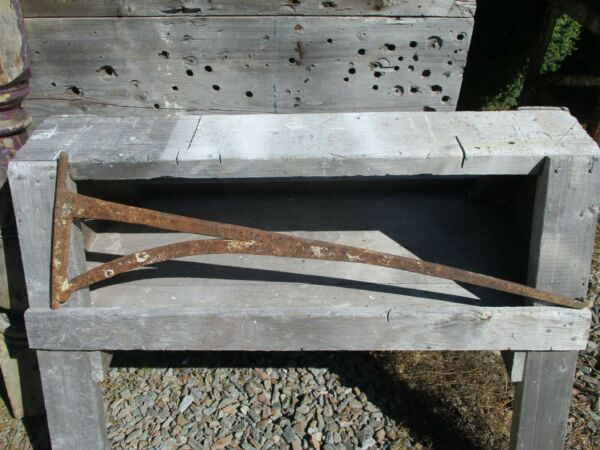 Antique Iron Bee Hive Oven Crane ~ Hand Forged Cooking Swing Crane Fireplace