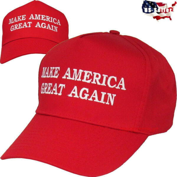 Red MAGA Make America Great Again President Donald Trump Hat Cap Embroidered USA $11.98