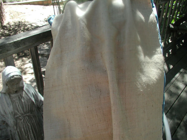 Beautiful Silk Linen Burlap Fabric High End Natural Jeanne D#x27;arc Living Look