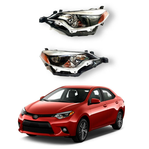 For 2014 2015 2016 Toyota Corolla Headlights Headlamp Replacement Assembly $204.95