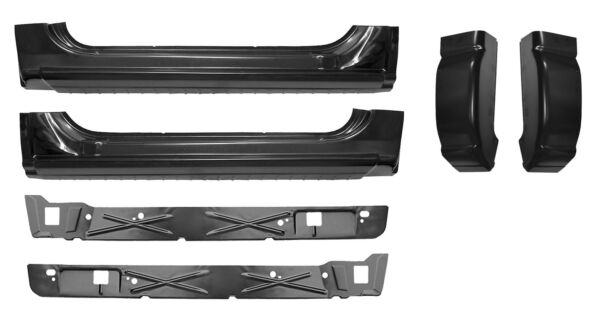 Rocker Panel Inner Rockers Cab Corner Kit fits 99-07 Chevy Silverado GMC  2 Door